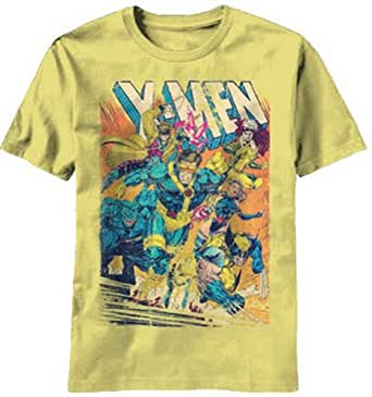 Marvel X-Men Covershot T-Shirt (extra Large, Yellow)
