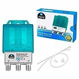 1x PRO DiseqC Schalter Switch 2/1 mit Wetterschutzgehäuse HB-DIGITAL 2x SAT LNB 1 x Teilnehmer / Receiver für Full HDTV 3D 4K UHD