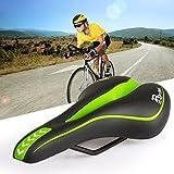 Ondeni® Fahrradsattel Sattel Fahrradsitz Gelsattel Tourensattel Damen Herren ergonomisch weich Grün+Schwarz