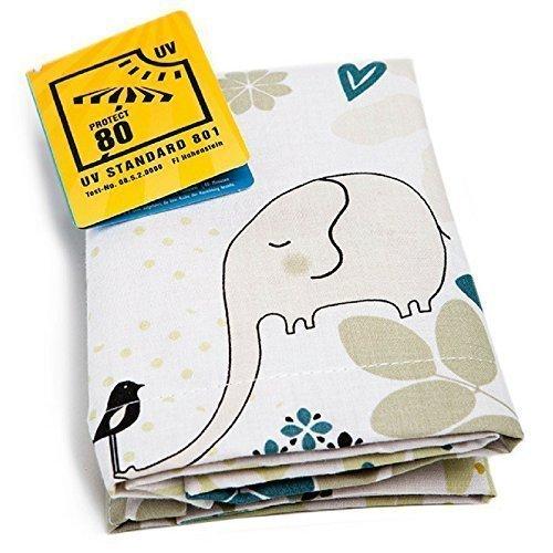 1518 - millemarille Sonnensegel elegant elephant I UPF 80 I passt auf jeden Kinderwagen I Elefant