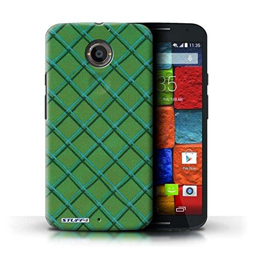 Kobalt® Imprimé Etui / Coque pour Motorola Moto X (2014) / Jaune/Noir conception / Série Motif Entrecroisé Vert
