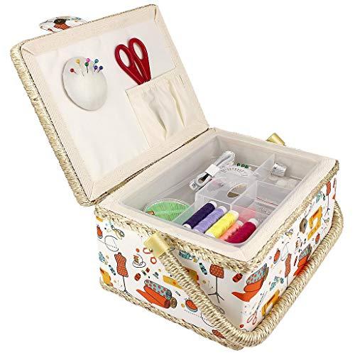 Caja Costura, 74 Accesorios, Cesta Costura, Caja/Organizador/Organizador