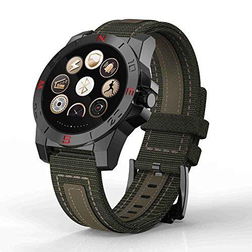 SMS Real-Time geschoben/MP3-Musik-Player,Puls-Monitor Handy-Uhr Smartwatch,Bergsteigen/laufen Herren,Aktivität Schrittzähler watch,Kompass-wasserdichte Uhr Höhenmesser Barometer...
