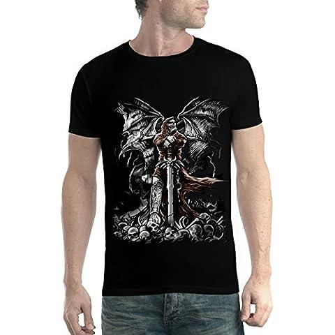 Cráneo Espada Horror Hombre Camiseta XS-5XL Nuevo