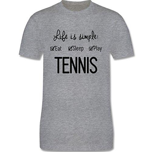 Tennis - Life is simple Tennis - Herren Premium T-Shirt Grau Meliert