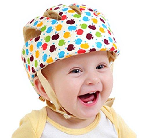 Hi 8Store Baby Kleinkind Sicherheitshelm, Kopfschutzkappe, verstellbar Gr. Einheitsgröße, Apple Floral (Verstellbare Schaumstoff-hut)
