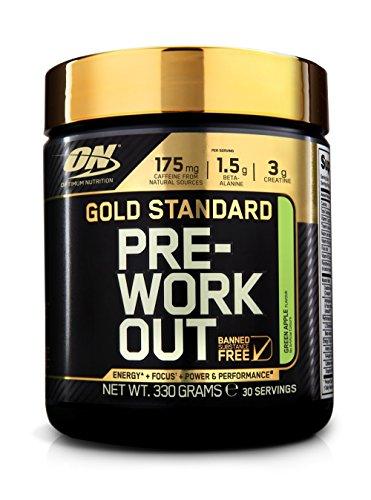 Optimum Nutrition Gold Standard Pre-Workout Supplement, 330 g – Apple