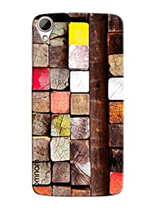 Omnam Pattern Made Of Woods Printed Designer Back Cover Case For HTC Desire 828