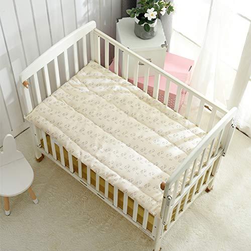 Kinderbett 100% Baumwolle Matratze, Baby Gesteppter Futon Schlafen Pad Weich Komfortabel Klappbar Roll-up Kinder Quilt-Kinderbett Matratze 60x130cm(24x51inch) (100 Baumwolle Matratze Pad)
