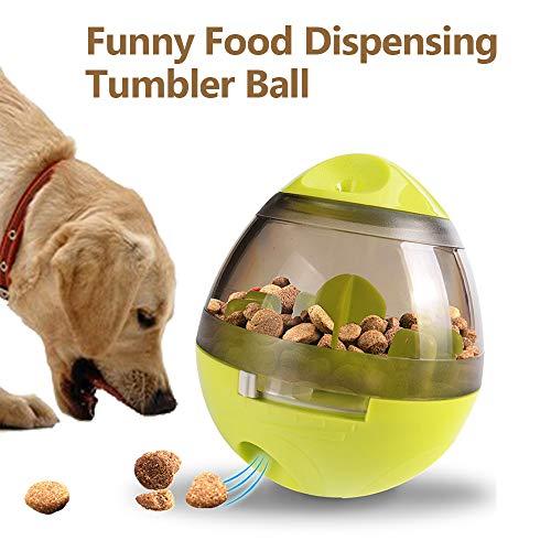 Hylotele Dog Treat Ball Toy Lebensmittel Dispensing Ball Tumbler Leckage Ball Spielzeug für Welpen Katzen Solide Durable Interaktives Spielzeug Ss Tumbler