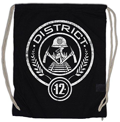 Urban Backwoods District 12 Turnbeutel Sporttasche Tribute Mocking Hunger von Districts Games Panem Jay