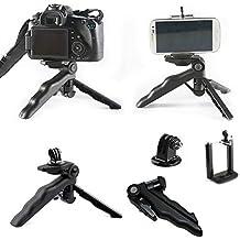 Qumox Pistol Grip estabilizador adaptador de montaje del trípode para GoPro Hero 3/3 + / 4 SJ4000 SJ5000 SJcam Wifi 1080p 720p iPhone Samsung LG Sony 4/5 / 5S / 5C / 6/6 + / DC DSLR Canon Nikon Olympus Fujifilm