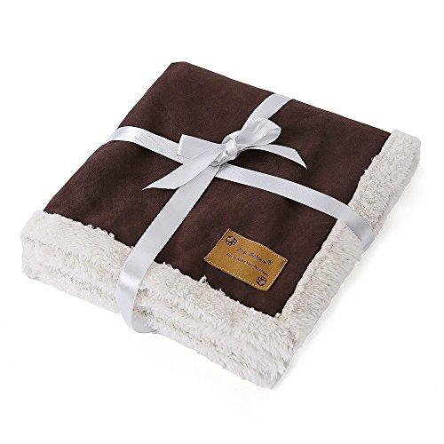 Pro Goleem Weiche Fauschige Hundedecke aus Fleece, Luxus für Hund und Katze Sofa Decken Matte (Größe L, 120x100 cm)