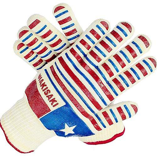 LAIABOR Silikon Grill Handschuhe Insulation Doppel-Lagerschicht Aramid Mikrowave Oven Handschuhe Cotton Handschuhe High Temperatur,a - Doppel-backofen-herde