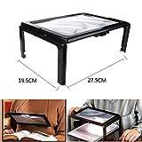 A4 Full Page Hands 3X Vergrößerung Lupe - mit LED-Licht für das Lesen - Ultra-dünne Linse Stand Foldable Desk - Geschenk für ältere Menschen
