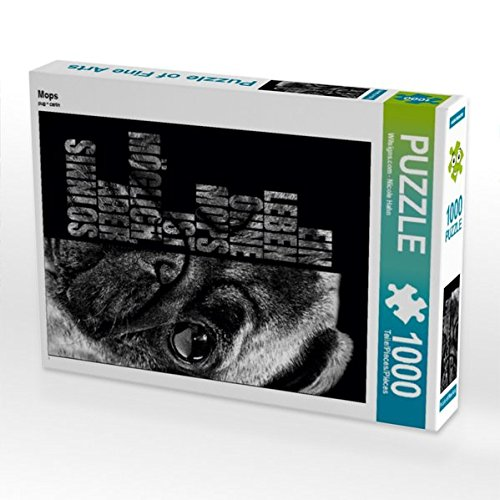 Mops 1000 Teile Puzzle Hoch