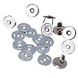 Hosaire 10 Pcs/Sets 18 mm Magnetic Beutel Verschluss Spangen,Silber Farbe Magnetische Verschlussknöpfe