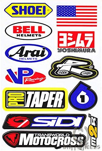 Motocross Auto Logo Aufkleber Satz Bogen Sticker Lkw-monster-logo