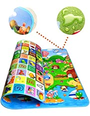 RYLAN Double Sided Water Proof Baby Mat Carpet Baby Crawl Play Mat Kids Infant Crawling Play Mat Carpet Baby Gym Water Resistant Baby Play & Crawl Mat(Large Size - 6 Feet X 4 Feet) Playmat for Babies