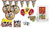 XXL 63 Teile Disney Micky Maus Party Deko Set für 16 Kinder