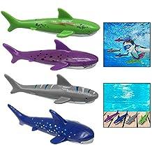 Xrten 4 Pcs Buceo Tiburón Torpedo de Juguete para Natación Piscina ...