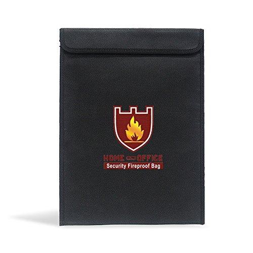 Zantec 28 * 38cm feuerfeste explosionssichere Sicherheitstasche Feuer und Wasser beständige Speicher Dokument Tasche