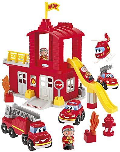 Jouets Ecoiffier -3026 - Grande caserne de pompiers Abrick - Jeu de construction pour enfants - Dès 18 mois - Fabriqué en France