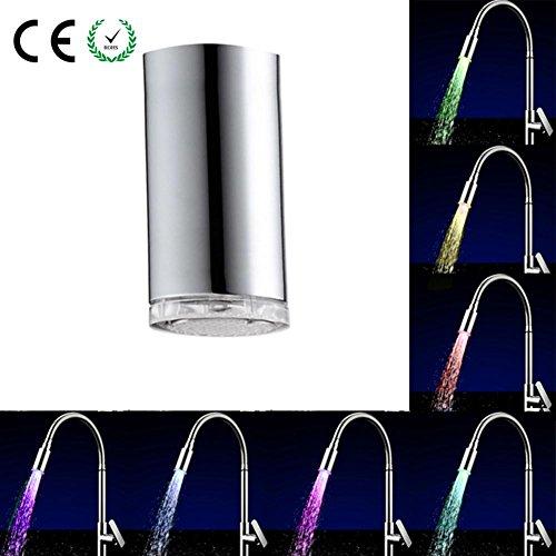 starter Neue Innengewinde LED Wasserhahn Bunten Leuchtenden Farbwechsel Temperaturregelung Dreifarbige Runde Lange Wasserhahn Licht (Einlass-licht)