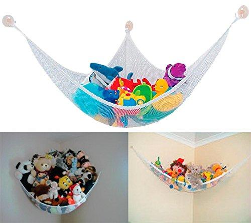 Preisvergleich Produktbild Spielzeug Hängematte, Sondereu Kinder Speichernetz Toy Ecke Jumbo Organizer Lagerung Hammock Kuscheltiere Doll im Zimmer (Weiß)