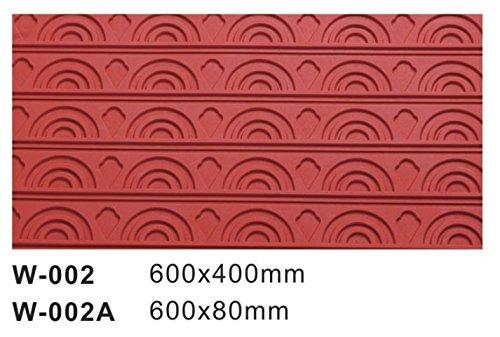 Plaque de pâtisserie en Silicone, Motifs Arc-en-Ciel, 600 x 400 mm, Rouge