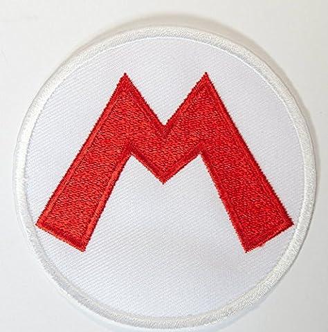 M. Costume Toad - Super Mario M Logo Patch Applique fer