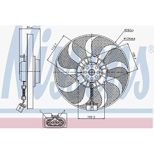 Preisvergleich Produktbild Nissens 85715Lüfter Kühlung des Motors
