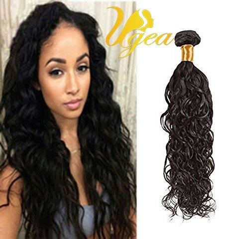 Ugeat 18 Pouces Cheveux Tissage Naturel en lot Ondule Extensions Cheveux Humains 100% Real Bresilien Tissage Virginal Cheveux 1b# Noir Naturel 100g