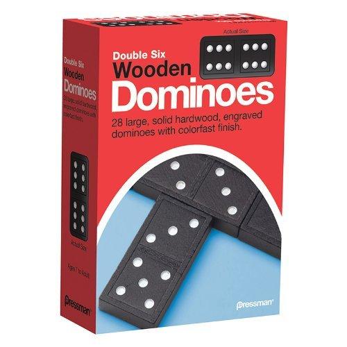 Pressman 6 Dominos Double en Bois by The Sales Partnership Ltd