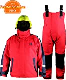 Navis Marine Impermeabile Giacca e Pantaloni da Vela, Foul Weather Gear, Antivento, Red, M