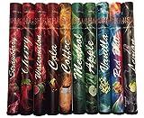 Vape Pen, 10 Stück, verschiedene Geschmacksrichtungen, Sparset, bis zu 500 Züge, mit Transporthülle, alle E-Shishas enthalten kein Nikotin