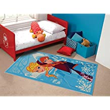 Matrix Disney niños Kiddy Frozen Anna Elsa diseño multicolor alfombra en 2tamaños, nailon, Varios Colores, 80 x 120 cm (2'6'' x 4'4'')