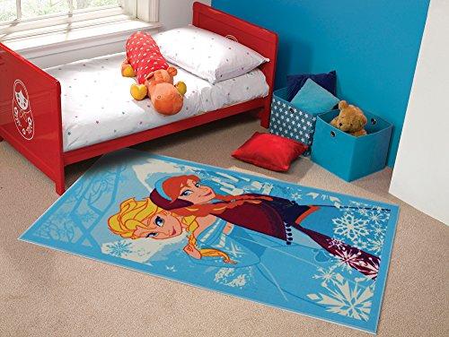 Matrix, tappeto per bambini con Anna e Elsa del cartone animato Frozen della Disney, multicolore, multi colored, 100 x 190 cm (3'3'' x 6'3'')