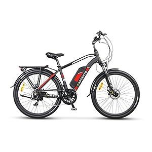 """51r7Ejgo6UL. SS300 Argento Alpha bicicletta da città, E-Bike Uomo, Assicurazione AXA """"Tutela Famiglia"""" inclusa, Nero, Telaio 46 cm"""