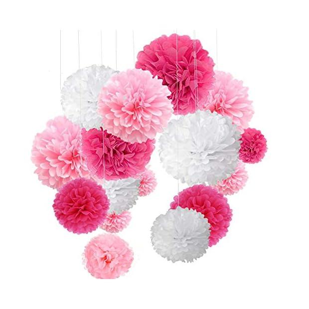 Hrph 10PCS Main Fleurs D/écoration de Mariage Boule de Papier Pompons pour Mariages /& Maison Baby Shower