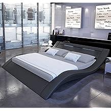 Muebles Bonitos – Cama de diseño modelo Calpe en color Negro 160x200cm