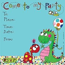 Rachel Ellen unidades 8 niños - dinosaurios invitaciones de la fiesta