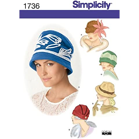 Simplicity 1736 - Patrón para sombreros de chica (disponible en 3 tallas)