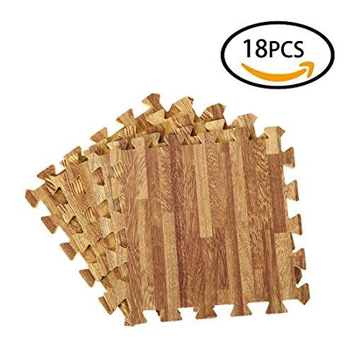 foxom tappetini a puzzle per pavimento - set di 18 pezzi tappetino per esercizi tappeto bambini con incastro - tappetini puzzle per bambini palestra cameretta