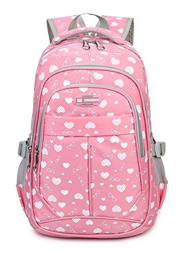 e3fb57d767934 Keshi Nylon Cool Schulrucksäcke Rucksack Damen Mädchen Vintage Schule  Rucksäcke mit Moderner Streifen für