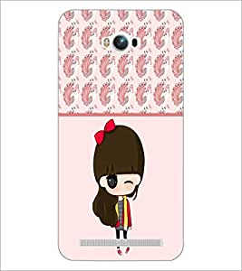 PrintDhaba Cute Doll D-5872 Back Case Cover for ASUS ZENFONE MAX ZC550KL (Multi-Coloured)