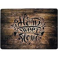 Stilingo Fußmatte außen und innen Tür-Matte mit Spruch Home Sweet Home Fußabtreter Vorleger drinnen und draußen 70 x 50 cm
