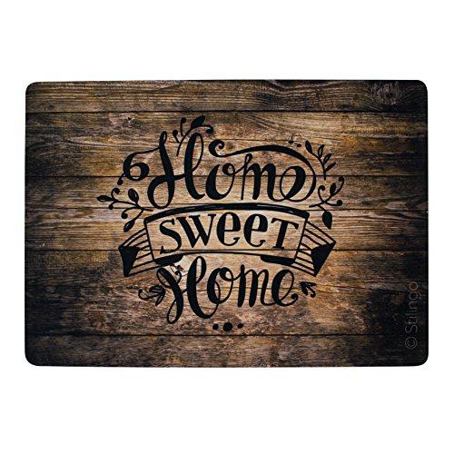 fusabtreter Stilingo Fußmatte außen und innen Tür-Matte mit Spruch Home Sweet Home Fußabtreter Vorleger drinnen und draußen 70 x 50 cm