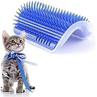 EBILUN Cepillo de masaje para gatos y gatos (pelo largo y corto), diseño de gato