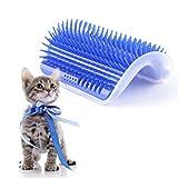 Ebilun angolo di massaggio spazzola del gatto Grooming spargimento massaggio Pet self Groomer pettine massaggio giocattolo con Catnip per cane gatto e lunghi capelli corti